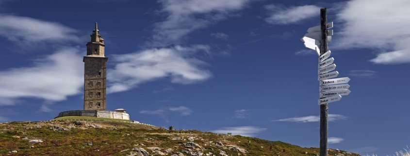 a coruna torre de Hercules cammini