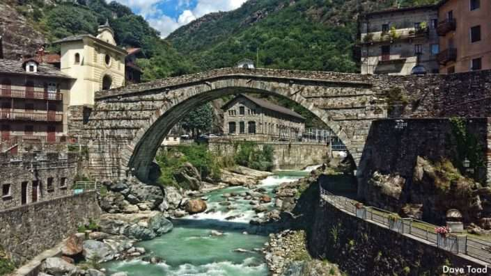 La via francigena nella valle d'Aosta