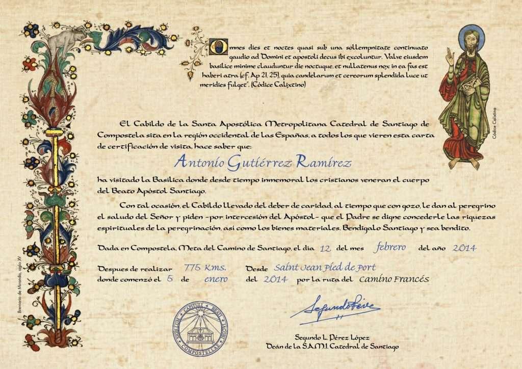 credenziale e certificato di distanza