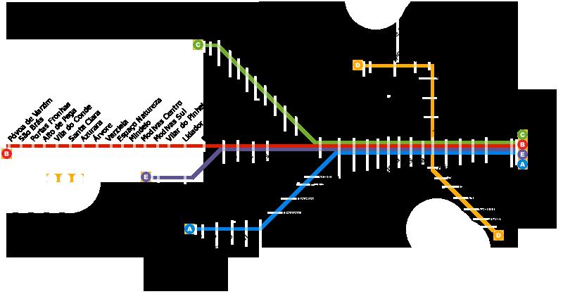 Porto mappa metro
