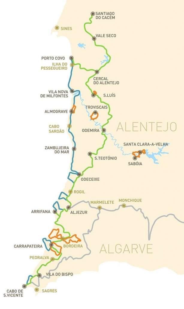 Mappa Rota Vicentina