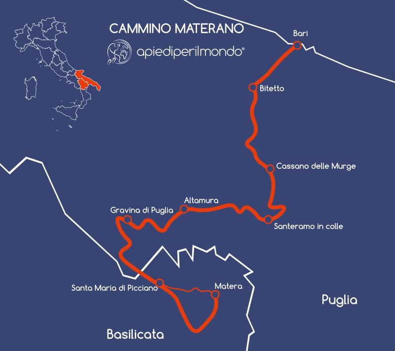 mappa Cammino Materano